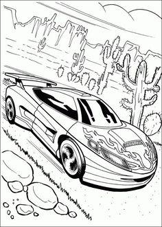 Ausmalbilder Hot Wheels Fahrzeuge 01