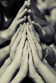 Family Prayer hands. Wow, Im posting this here because I dont know where else to, but WHAT A MEMORY this would make! I adore it. Especially, if it displays multiple generations. What an awesome keepsake it would be!