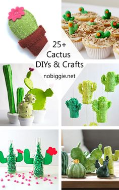 Cactus Crafts and DIY is part of Cute crafts Cactus - Cactus crafts and DIY to get into the cactus and succulent trend Cactus Craft, Cactus Decor, Cactus Diys, Cactus Cactus, Cute Crafts, Felt Crafts, Diy And Crafts, Crafts For Kids, Decor Crafts