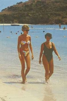 Princess Diana walking on the beach with her host, who provided her a brief private sanctuary.  Enjoy RUSHWORLD boards, DIANA PRINCESS OF WALES EXTENSIVE PHOTO ARCHIVE and UNPREDICTABLE WOMEN HAUTE COUTURE. Follow RUSHWORLD! We're on the hunt for everything you'll love!