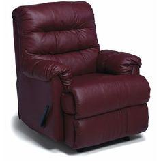 Palliser Furniture Columbus Rocker Recliner Type: Manual, Upholstery: Leather/PVC Match - Tulsa II Dark Brown