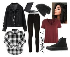 """Jughead Jones: Riverdale"" by jaydaross on Polyvore featuring Paige Denim, The North Face, Topshop, Converse and Speck"