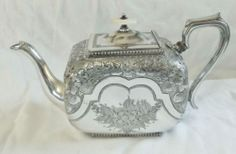 Antique Victorian Silver Plated Teapot, Arthur.E Furniss ca.1870