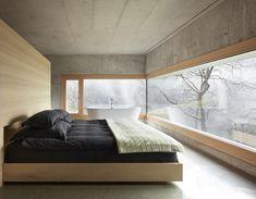"Ein ""Slow-Haus"" als Refugium in Vorarlberg Interior Design Classes, How To Make Bed, Interior Inspiration, Interior Architecture, House Design, Concrete, Home Decor, Bedrooms, Houses"