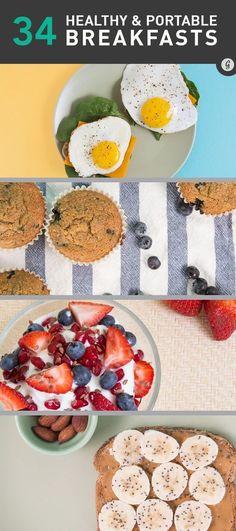 34 Healthy Breakfasts for Mornings on the Run #breakfast #healthy #easy #greatist