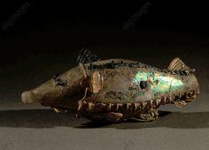FISH / GLASS / ROMAN / 1ST-CENTURY A.D.Roman, 1st-century A.D.  Fish.  Glass. Roman import / trade object, found in Kushan.