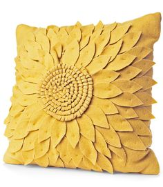 "$24.99 | Wool-blend Flower Pillow    This bright piece will add a burst of cheer to any room. (16"" square; target.com for stores)"