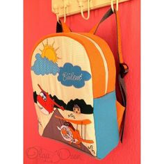 Super wings on backpack. Unique design by Olga Ozen from Ukraine. Living at Sarigerme Mugla Turkey