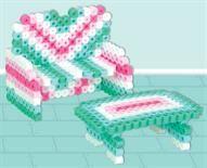 Perler® | 3-D Dollhouse Sofa and Table color ideas