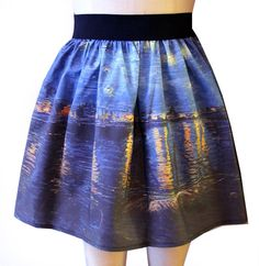 Starry Night Over the Rhone Full Skirt by GoFollowRabbits on Etsy, $45.99