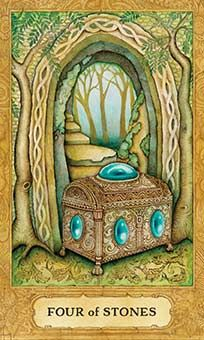 THE CHRYSALIS DECK --------- **Four Of Stones** = Coins