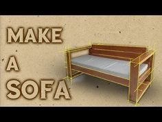 (88) Woodworking : MAKE A SOFA - YouTube