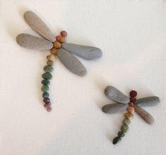Dragon moscas naturales playa piedras / por EmilysNatureEmporium