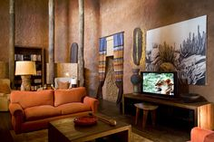 Lounge at Tswalu Kalahari Reserve Lodge, South Africa