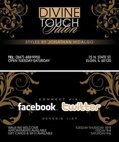 Divine Touch Salon Business Cards