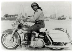 """Bessie Stringfield nicknamed """"The Motorcycle Queen of Miami"""", was the first African-American woman to ride across the United States solo, and during World War II she served as one of the few motorcycle dispatch riders for the United States military. Credited with breaking down barriers for both women and African American motorcyclists, Stringfield was inducted into the Motorcycle Hall of Fame."""
