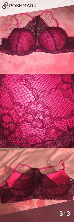 Racerback Bra Maroon and pink. Hardly worn. Clasp is in the front XOXO Intimates & Sleepwear Bras