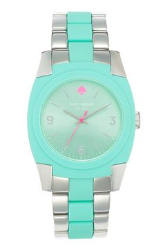 kate spade new york 'skyline' bracelet watch (Nordstrom Exclusive) available at Nordstrom. wonder if it looks as cool in person. Looks Chic, Looks Style, My Style, Stuffed Animals, Jewelry Accessories, Fashion Accessories, Fashion Shoes, Fashion Outfits, Kate Spade Watch