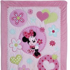 minnie mouse quilts | MINNIE MOUSE Sitting Pretty 3-Piece Crib Bedding Set | Disney Baby