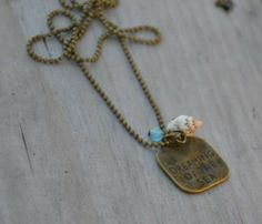 "Min Favorit ""Dreaming of the Sea"" Pacific Blue Opal & Sea Shell Charm Necklace"