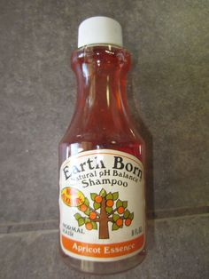 earthborn shampoo 70's | Gillette Earth Born Shampoo Bottle Vintage 1970's 8 oz Apricot Essence