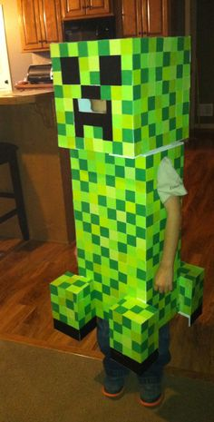 Homemade creeper costume complete