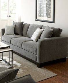 Kenton+Fabric+Sofa+Living+Room+Furniture+Collection From Macy's Living Room Sofa Design, Home Living Room, Living Room Decor, Modern Sofa Designs, Sofa Set Designs, Sofa Furniture, Living Room Furniture, Western Furniture, Furniture Storage