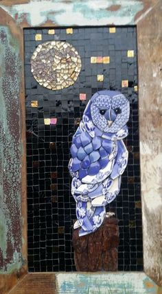 Coruja mosaico by Andréa Olighon