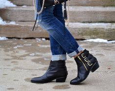 cute black booties. #boots #black #shoes