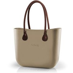 O bag Classic in Sand with Brown Long Real Leather Handles