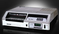 First front-loading VHS video recorder