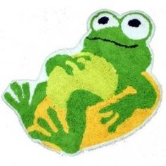 Frogs are loveable, good natured and best of all, amphibious.... perfect for the kids bathroom! You have found the coolest frog bath accessories on the web, for your kids bathroom or gift ideas. Check out these fun & practical accessories..... nothing cheers up bath time like a frog bath mat or shower curtain!