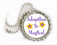 Adoption Keychain Adoption Zipper chain by HConwayPhotography, $8.00