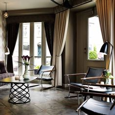 Kokkeriet, Discover - Grossman Gräshoppa Floor Lamp // Gubi, table, lights & armchairs available from discover-deliver.com