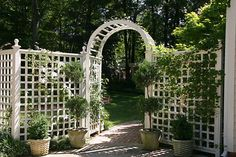 Brinker Garden - arched entry by Pandorea..., via Flickr