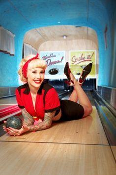 Retro Inspired, Vintage, Bowling