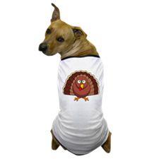 Cartoon Turkey Dog T-Shirt
