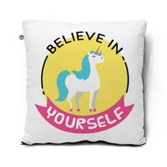 Almofada Believe in yourself – Unicórnio