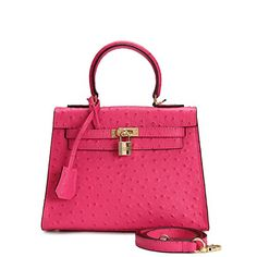 House Of Hello Women's Genuine Leather KL Style Ostrich Grain Top-handle-bags Rose Pink 25CM House Of Hello http://www.amazon.com/dp/B012CMBOV2/ref=cm_sw_r_pi_dp_vWCPwb05F1G49