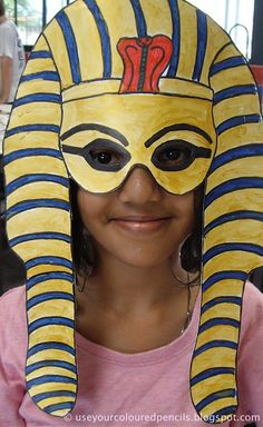 Make Tutankhamun Masks. Go to the Egyptian exhibition before it closes and make these later