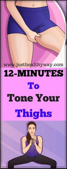 Here Are 12 Minute Workout To Tone Thighs & Burn Fat At Home!!! - Just Healthy Way