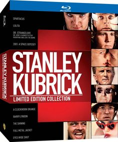 Stanley Kubrick Limited Edition Collection Blu-ray: Spartacus, Lolita, Dr. Strangelove, 2001: A Space Odyssey, A Clockwork Orange, Barry Lyndon, The Shining, Full Metal Jacket, Eyes Wide Shut