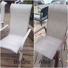 Old Patio Furniture ...no Problem ! Spray Paint Fabric .