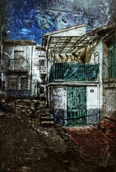 Rincón con puerta verde