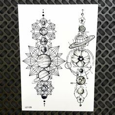 Black Waterproof Geometric Planets Temporary Tattoo Star Moon Space Universe Men Women Arm Sleeve Fake Tattoo Stickers GLZ 129-in Temporary Tattoos from Beauty & Health on Aliexpress.com | Alibaba Group
