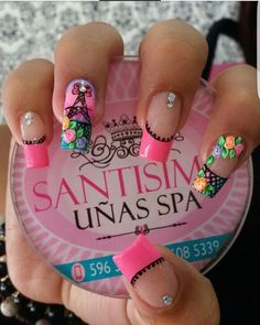 Hermosas Perfect Nails, Gorgeous Nails, Love Nails, Fun Nails, Pretty Nails, Purple And Pink Nails, Unicorn Nails, Painted Nail Art, Toe Nail Designs