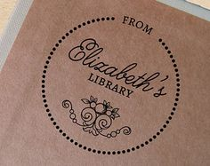 Custom Book Stamp Vintage Bookplate by TailorMadeStamps on Etsy