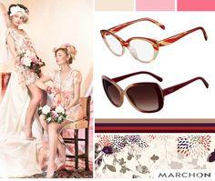 """""""Vejo flores em você""""! Sim, mesmo nas estações mais frias elas estão com tudo. Se usar uma peça com estampa floral, procure combinar com óculos de armações coloridas e mais grossas! ;)"""