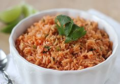 Mexican Red Rice.  Easy & delicious side dish to accompany all the Mexican-style entrees we love.