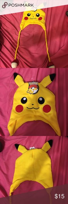 NWT Pikachu Hat Wear this cute hat on all your Pokemon GO! Adventures! Never worn, new with tags. Accessories Hats